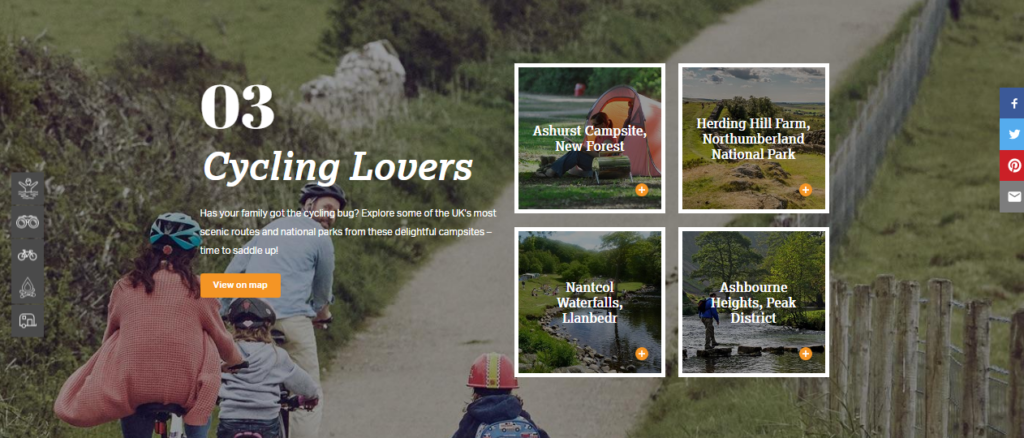 Image of Halfords' camping guide by Fusion Unlimited