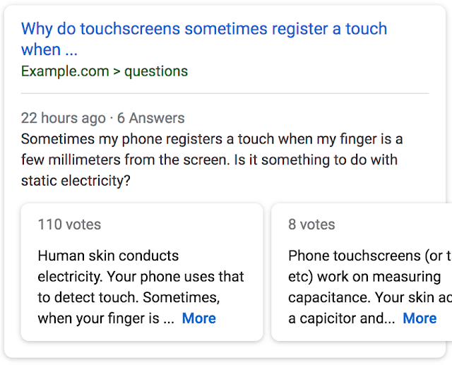 Google's Q&A Rich Results